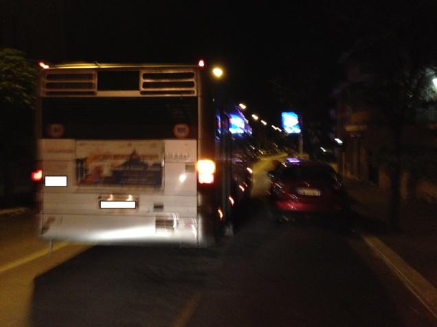 Foto scattata alle 22.57 su via Guinizelli. Dal Colosseo a Monteverde ho impiegato oltre un'ora