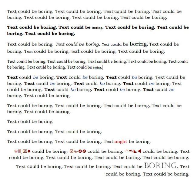 TextCouldBeBoring